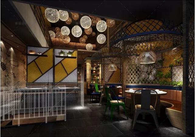 餐飲店面設計案例:憨味鴨餐廳裝修效果圖|760平